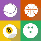 Sport balls vector set Royalty Free Stock Image