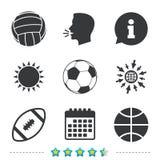 Sport balls. Volleyball, Basketball, Soccer. Stock Photography