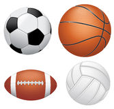 Sport balls on white background Royalty Free Stock Images