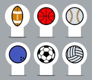 Sport Balowa etykietka Zdjęcia Stock