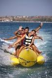 Sport-banane funnny de l'eau. photographie stock