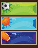 Sport banner Stock Photos