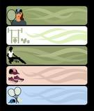 Sport banner Stock Image