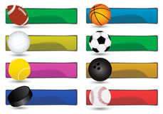 Sport Banners Royalty Free Stock Photography