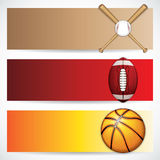 Sport banners. Sport concept banners. Vector illustration Royalty Free Stock Photo