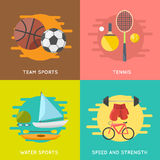 Sport banners  set Royalty Free Stock Images