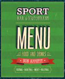 Sport Bar Menu. Vector Illustration Royalty Free Stock Photo
