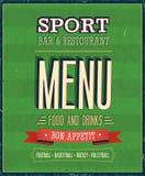Sport Bar Menu. Vector Illustration vector illustration