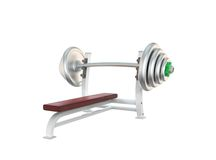 Sport barbell Royalty Free Stock Image