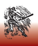 Sport baseball. Hand drawn illustration of woman baseball - sport theme stock illustration