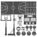 Sport-Basket-utrustning Royaltyfri Fotografi