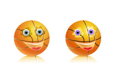 Sport basketball ball with face Royalty Free Stock Images