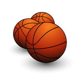 Sport basketball balls symbol orange color Royalty Free Stock Photography
