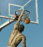 Sport. Basketball player in action. Toned and stylized photo stock photography