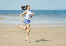 Sport on the beach Stock Images