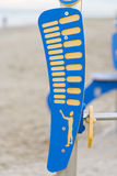 Sport on the beach. Tools for outdoor sports on the beach royalty free stock photography