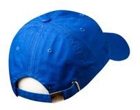 Sport bedeckt lokalisiert auf einem weißen Hintergrund mit einer Kappe Blaue Kappe Stockfotos