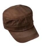 Sport bedeckt lokalisiert auf einem weißen Hintergrund mit einer Kappe Brown-Kappe Lizenzfreie Stockfotos