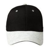 Sport bedeckt lokalisiert auf einem weißen Hintergrund mit einer Kappe Kappe mit einer schwarzen Spitze Stockfotos