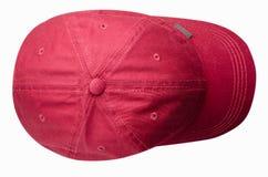 Sport bedeckt lokalisiert auf einem weißen Hintergrund mit einer Kappe Rote Kappe Lizenzfreie Stockfotografie