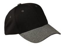Sport bedeckt lokalisiert auf einem weißen Hintergrund mit einer Kappe schwarze Kappe mit grauer Maske Stockfoto