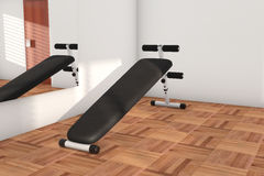 Sport Bench in the Gym Stock Photo