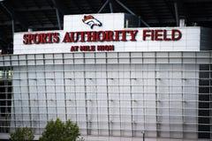 Sport-Berechtigungs-Feld an der Meile hoch Stockfoto