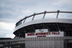 Sport-Berechtigungs-Feld an der Meile hoch in Denver Stockbild