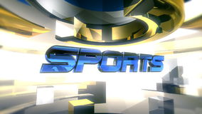 SPORT Berichts-Grafik-Animation stock footage