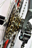Sport bicycle gear machine Royalty Free Stock Photography