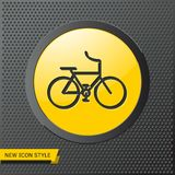Sport bicycle illustration. Healthy activities simple  icon. Sport bicycle illustration. Healthy activities  icon royalty free stock photos