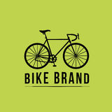Sport bicycle vector icon on green background Stock Photo