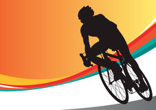 Sport bicycle vector racer Stock Images