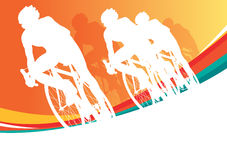 Sport bicycle vector racers Royalty Free Stock Images