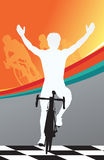 Sport bicycle vector winner Tour De France Stock Images