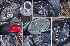 Sport bike. The photo shows the different parts of a sports bike Stock Image