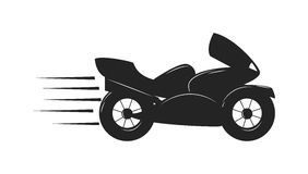 Sport bike black silhouette transport power vector illustration. Stock Photos