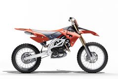 Sport bike enduro. Or trial close up on a light background with shadow Royalty Free Stock Images