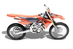 Sport bike enduro. Or trial close up on a light background with shadow Royalty Free Stock Photography