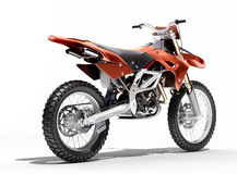 Sport bike enduro. Or trial close up on a light background with shadow Royalty Free Stock Photos