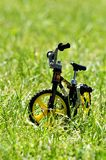 Sport bike in grass Royalty Free Stock Photo