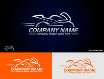 Sport bike logo Stock Photos