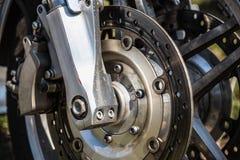 Sport bike or motorcycle brake disk Stock Images