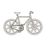 Sport bike racing on the track. Speed bike with reinforced wheels.Different Bicycle single icon in outline style vector Stock Photo