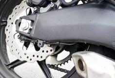 Sport bike rear wheel Stock Photos