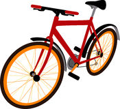 Sport bike. Red sport bicycle. Mountain bike Royalty Free Stock Photo