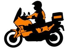 Sport bike of tourist Stock Image
