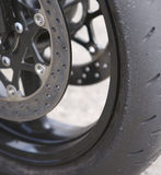 Sport Bike Wheel Stock Photography