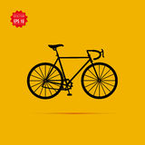 Sport black bicycle vector icon Stock Image