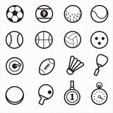 Sport black icons Stock Photos